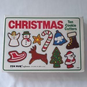Vtg Christmas Cookie Cutters Fox Run Craftsman x 9